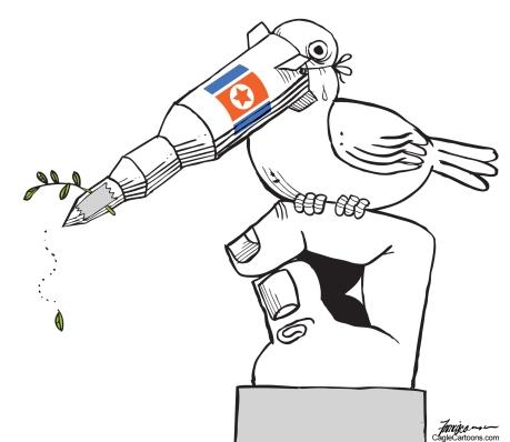 Corea y su paloma de la paz